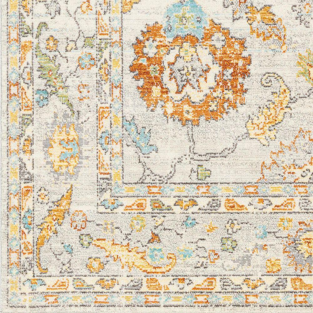 "Surya Bodrum 7'10"" x 10' Ivory, Orange, Saffron, Gray, Camel and Blue Area Rug, , large"