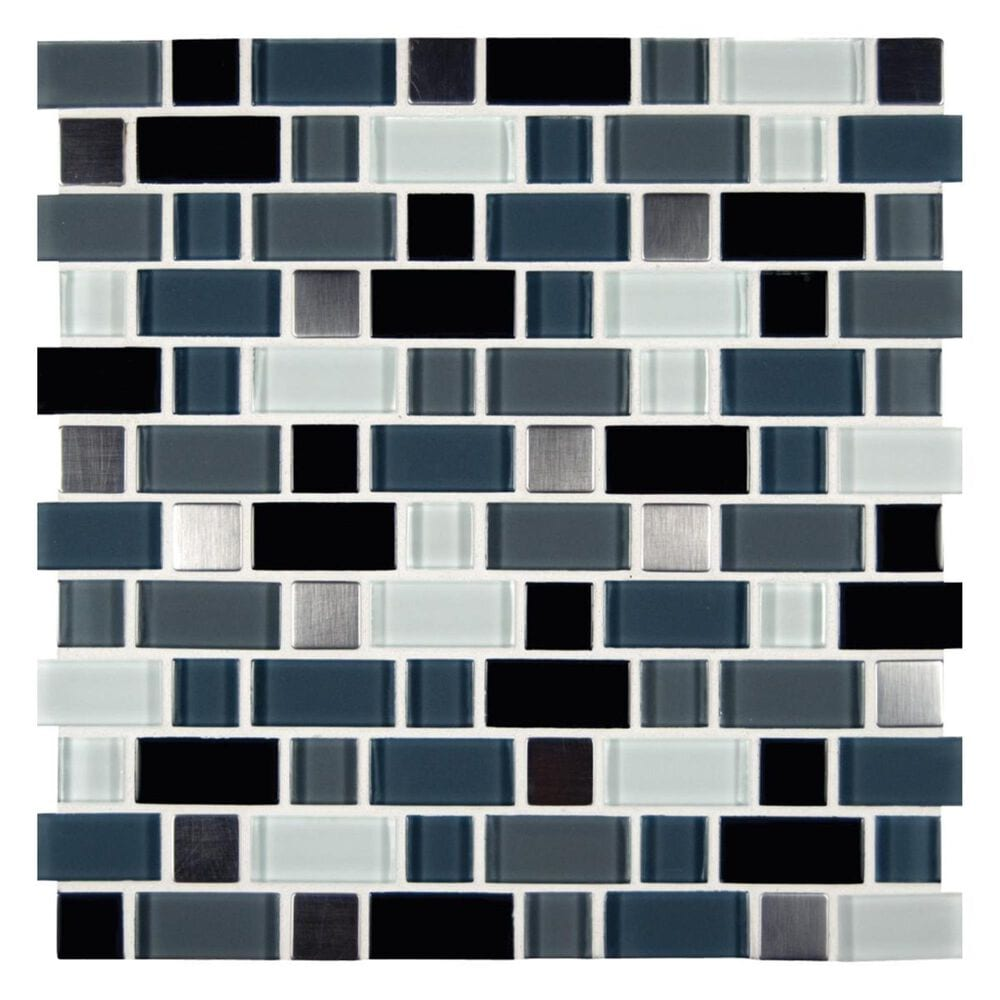 "MS International Crystal Cove Blend 12"" x 12"" Glass Metal Mosaic Sheet, , large"