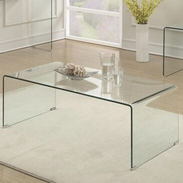 Pacific Landing Coffee Table in Clear Glass, , large