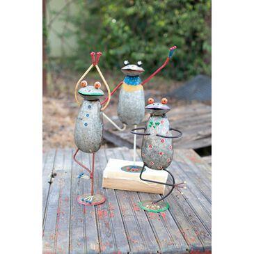 Kalalou Painted Iron Yoga Frogs (Set of 3), , large