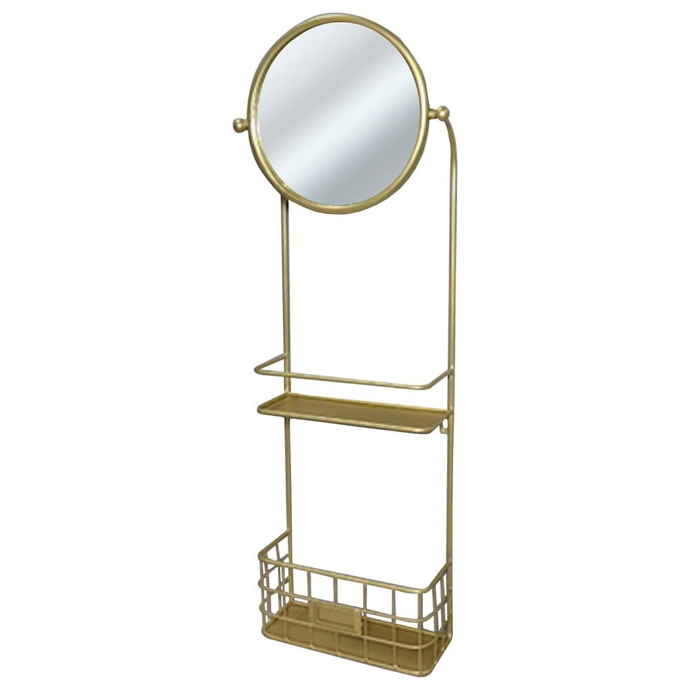VIP Home and Garden American Mercantile Mirror with Shelves, , large