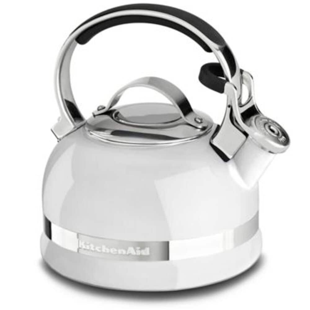 KitchenAid 1.9 L Kettle with Full Stainless Steel Handle and Trim Band in White , , large