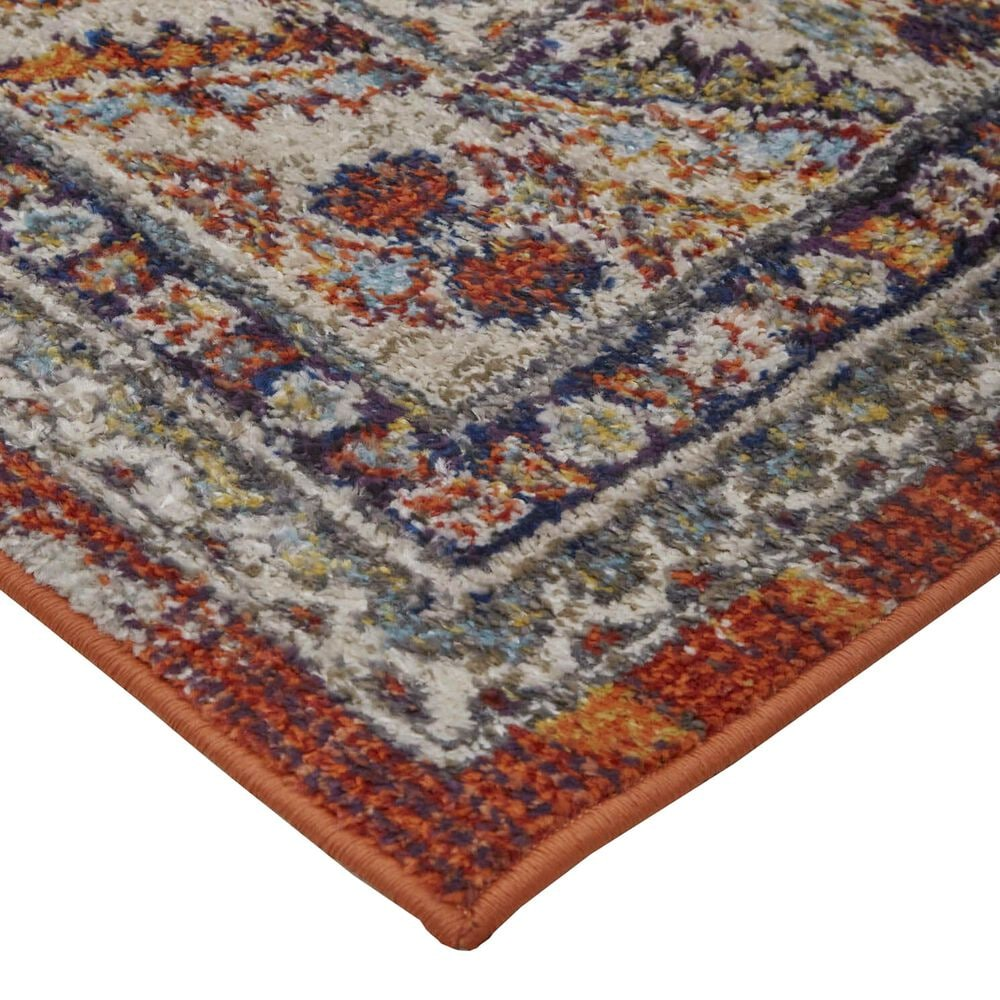 "Feizy Rugs Bellini 6'7"" x 9'6"" Orange and Blue Area Rug, , large"