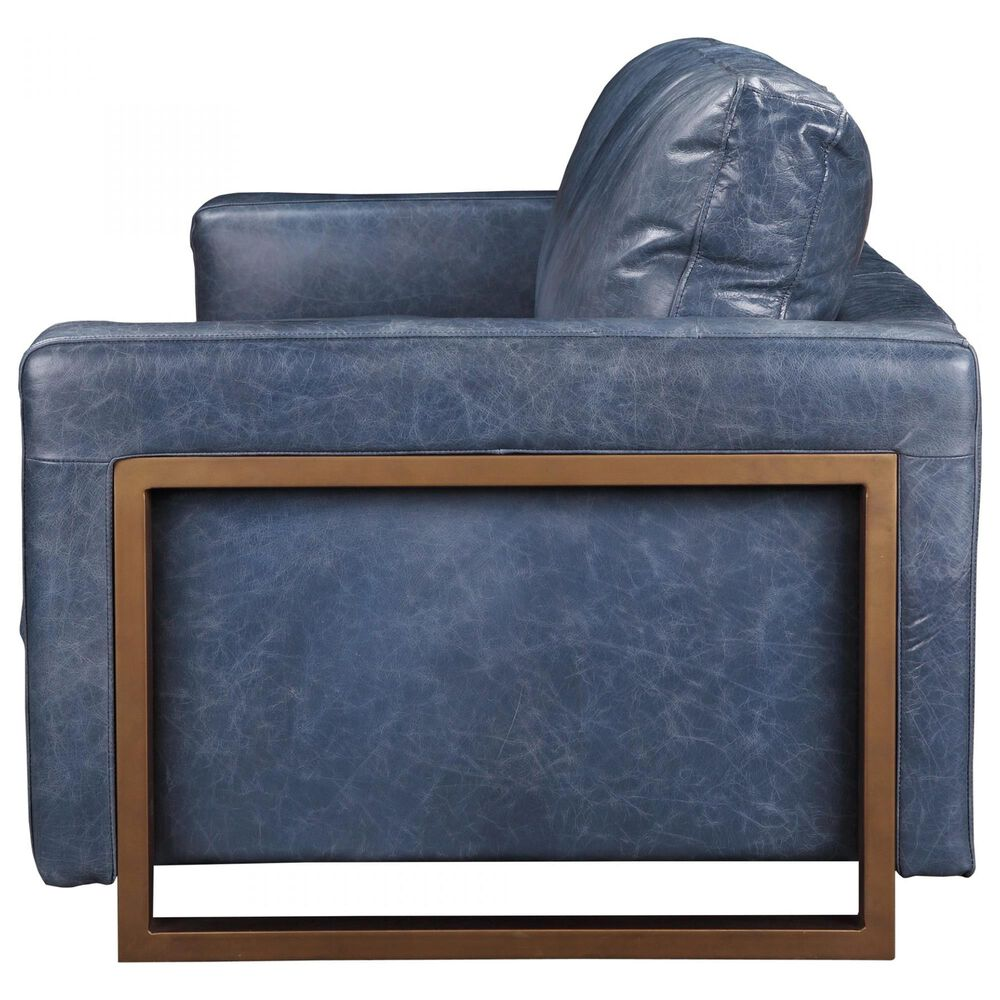Moe's Home Collection Nikoly Sofa in Blue, , large