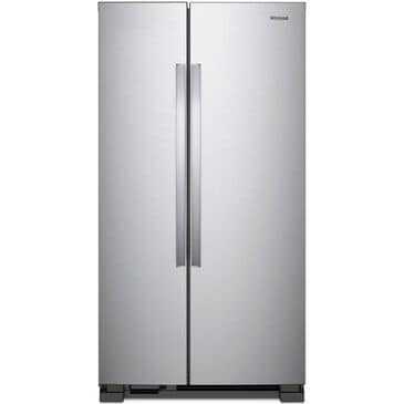 """Whirlpool 25 Cu. Ft. 36"""" Side-by-Side Refrigerator in Monochromatic Stainless Steel , , large"""