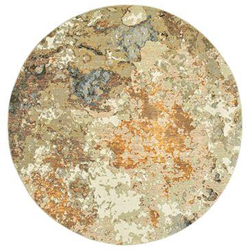 "Oriental Weavers Evolution 8031B 7'6"" Round Gold Area Rug, , large"