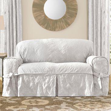 Surefit Loveseat Slipcover in White, , large