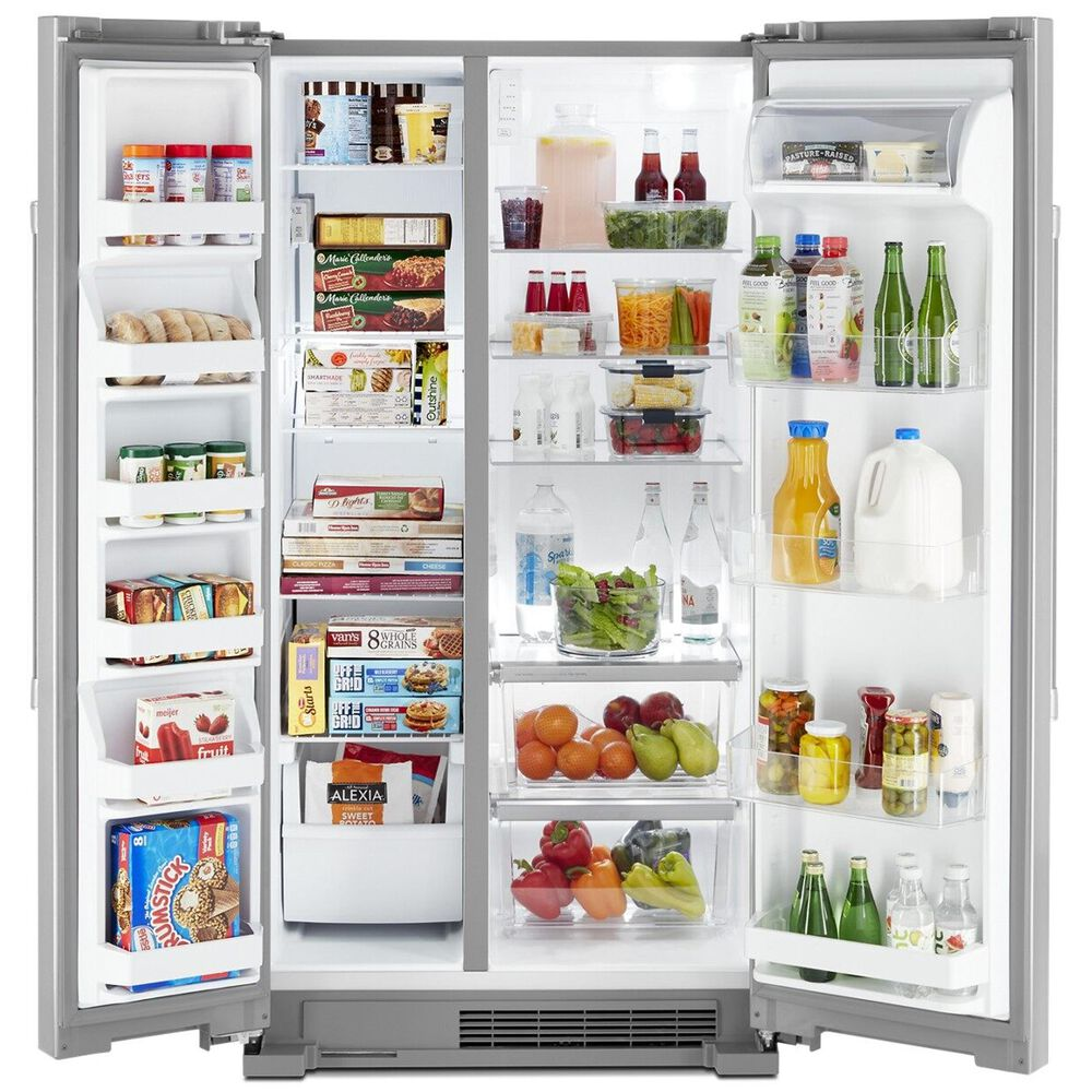 """Maytag 25 Cu. Ft. 36"""" Wide Side-By-Side Refrigerator in Stainless Steel, , large"""