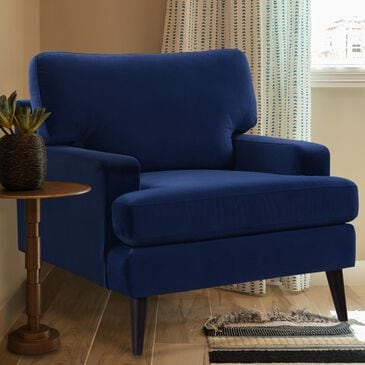 Jennifer Taylor Home Enzo Recessed Arm Lawson Accent Chair in Navy Blue, , large