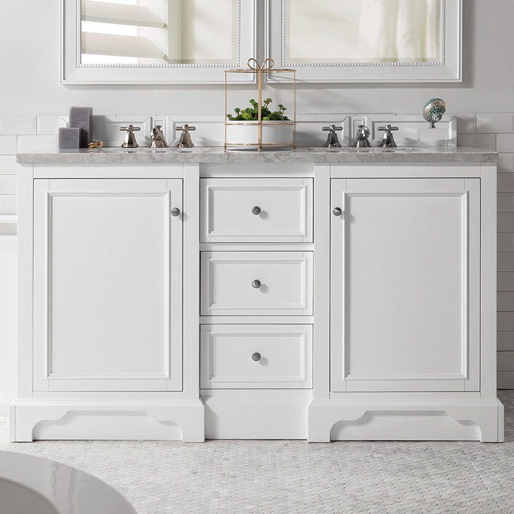 James Martin De Soto 60 Double Bathroom Vanity Cabinet In Bright White Nebraska Furniture Mart