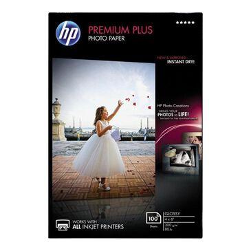 "HP 100 Sheets Premium Plus Glossy Photo Paper (4"" x 6""), , large"
