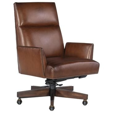 Hooker Furniture Gracilia Executive Swivel Tilt Chair in Brown, , large