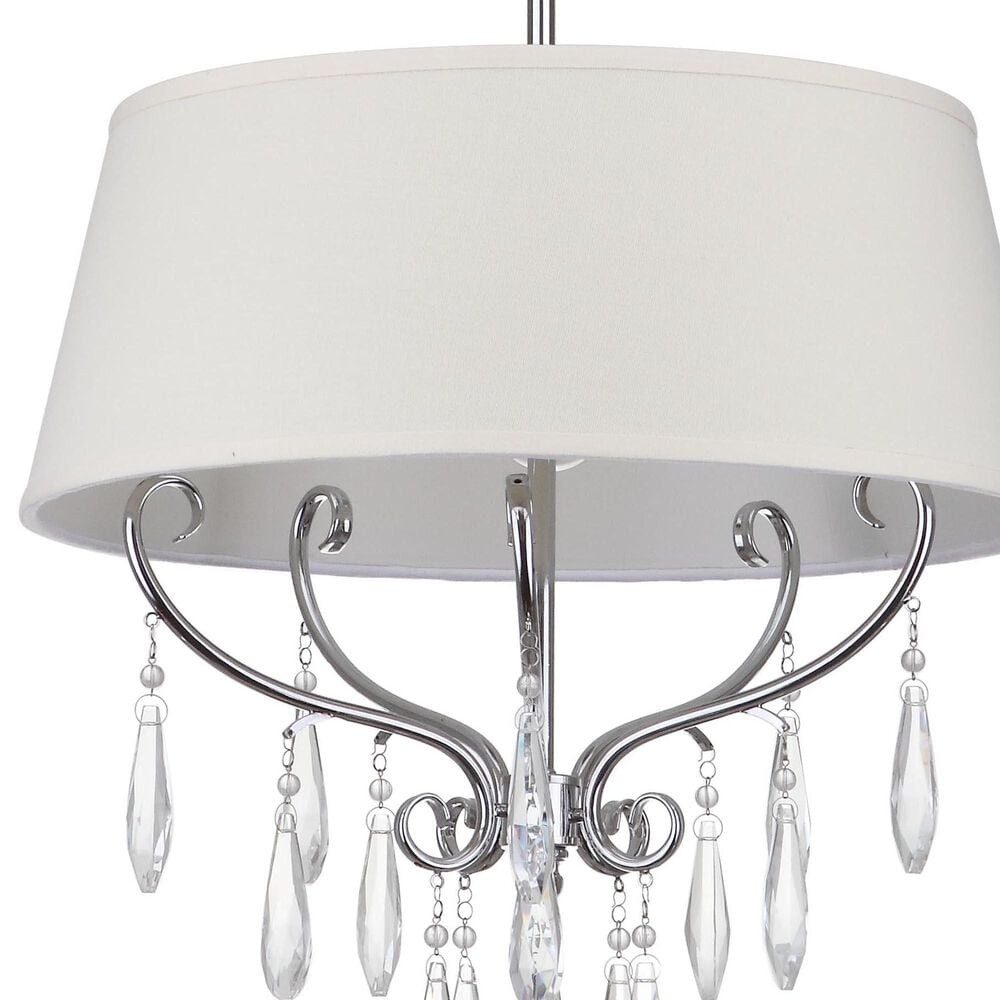 Safavieh Waltz Pendant Light in Chrome/Beige, , large