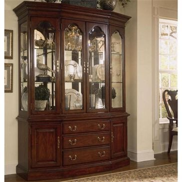 American Drew Cherry Grove Canted China Cabinet in Cherry, , large