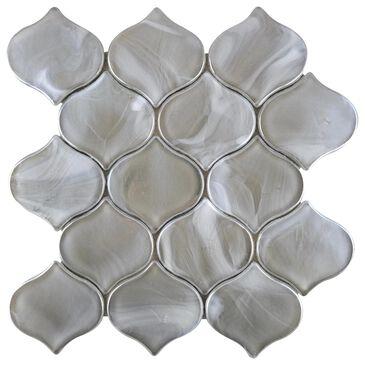 "Emser Splash Silver 10"" x 10"" Arabesque Glass Mosaic Sheet, , large"
