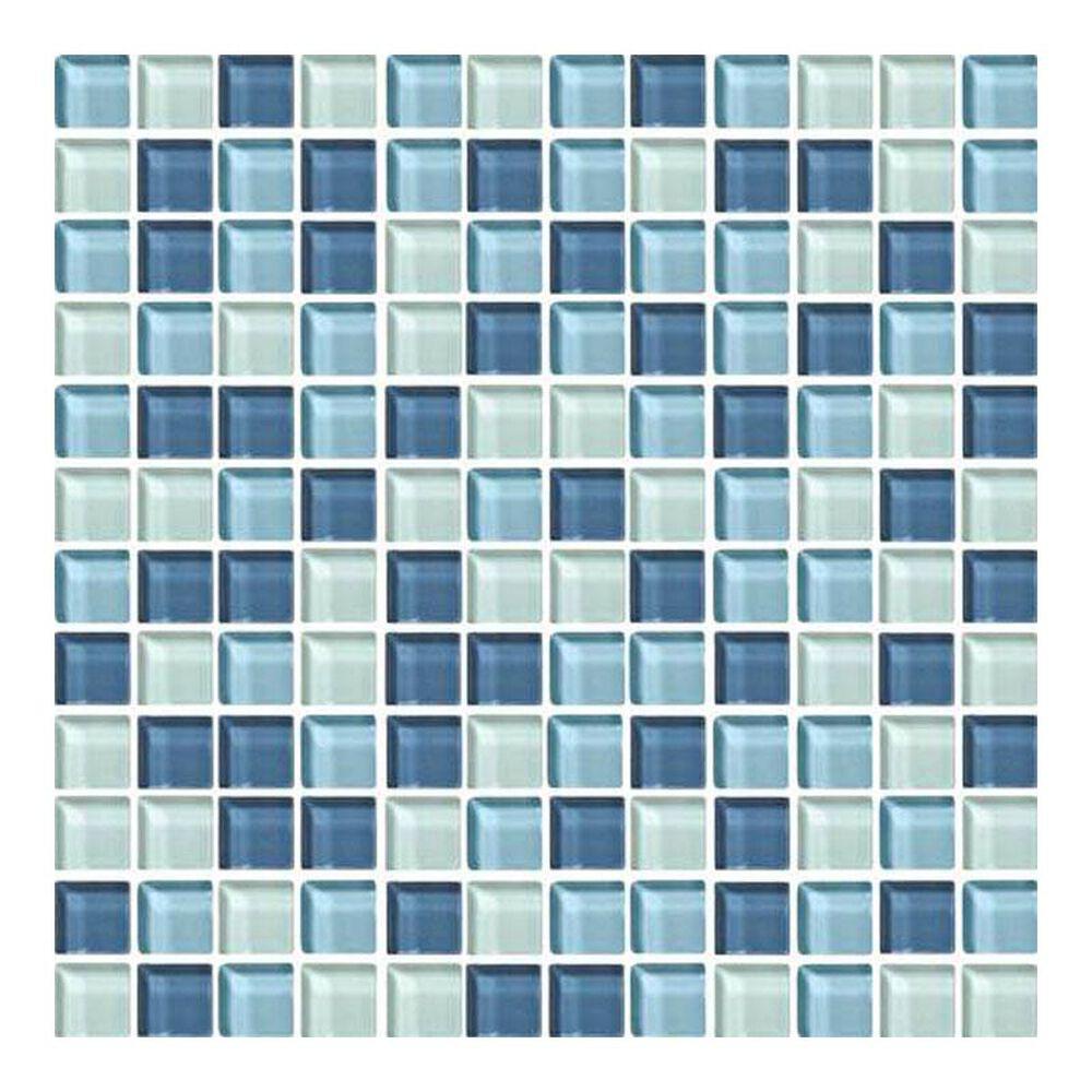 """Dal-Tile Color Wave Winter Blues 12"""" x 24"""" Glass Mosaic Sheet, , large"""