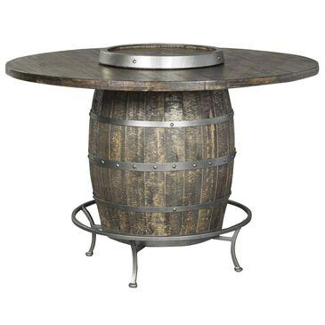 Sunny Designs Metro Flex Pub Table with Wine Barrel Base in Tobacco Leaf, , large