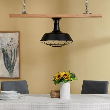 Southern Enterprises Flush Mount Lamp in Black, , large