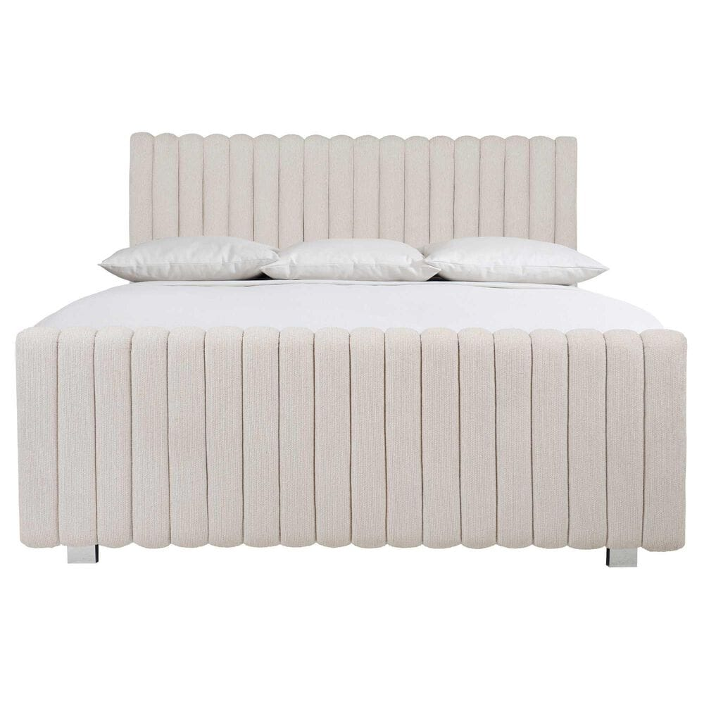 Bernhardt Silhouette King Upholstered Bed in Eggshell and Onyx, , large