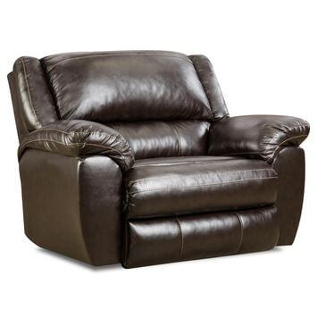 Simmons Upholstery Transitional Cuddler Recliner in Bingo Brown, , large