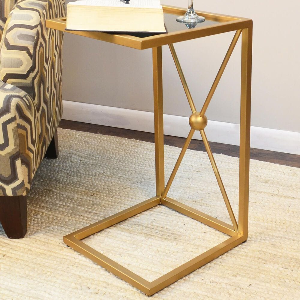 Carolina Chair and Table Marlow C Table in Black and Gold, , large