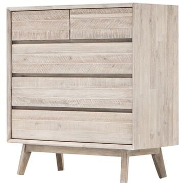 37B Gia 5 Drawer Chest in Gray Mix Distressed, , large