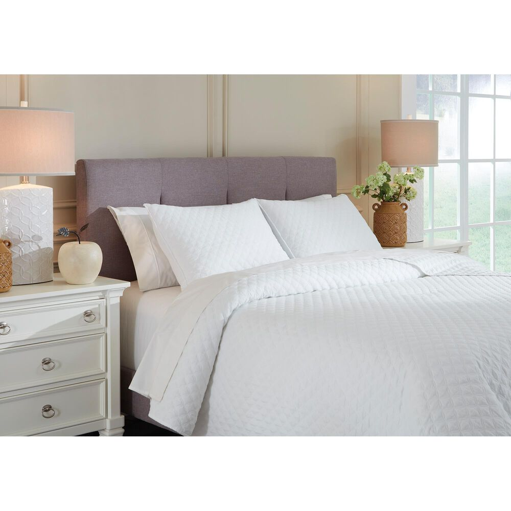 Signature Design by Ashley Ryter 3-Piece King Coverlet Set in White, , large
