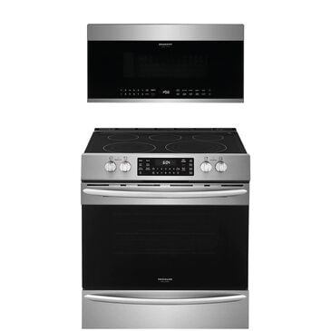 """Frigidaire Gallery 2-Piece Kitchen Package with 30"""""""" Front Control Electric Range in Stainless Steel, , large"""