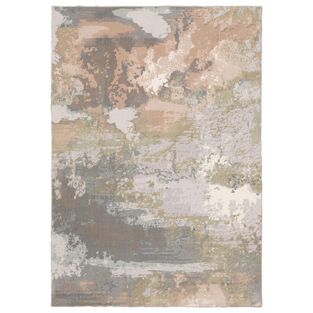 """Oriental Weavers Capistrano Abstract 536A1 9""""10"""" x 12""""10"""" Gray Area Rug, , large"""