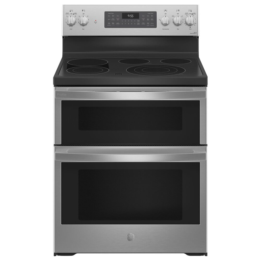 """GE Appliances 30"""" Free-Standing Electric Double Oven Convection Range in Stainless Steel, , large"""