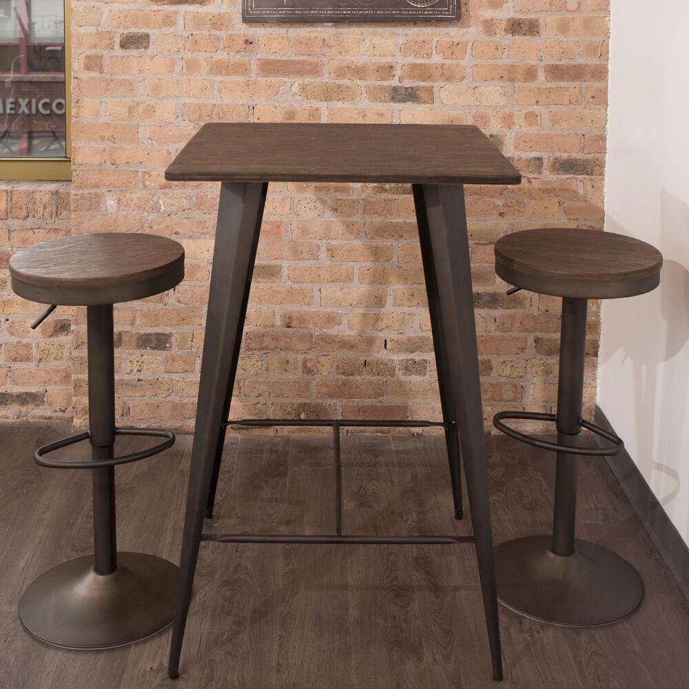 Lumisource Oregon Table in Espresso/Antique, , large
