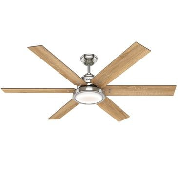 "Hunter Warrant 60"" Ceiling Fan in Brushed Nickel, , large"