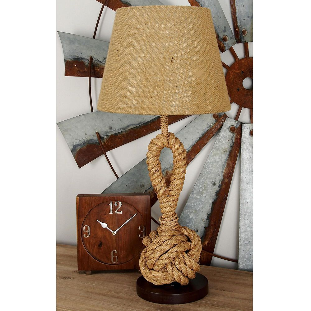 """Maple and Jade Modern Farmhouse  28"""" Rustic Metal Table Lamp in Brown, , large"""