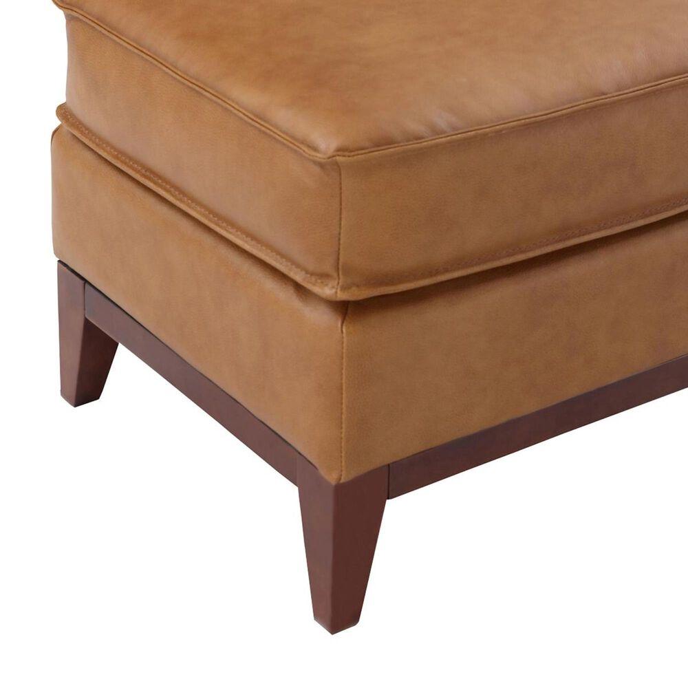 Italiano Furniture Newport Leather Ottoman in Camel, , large