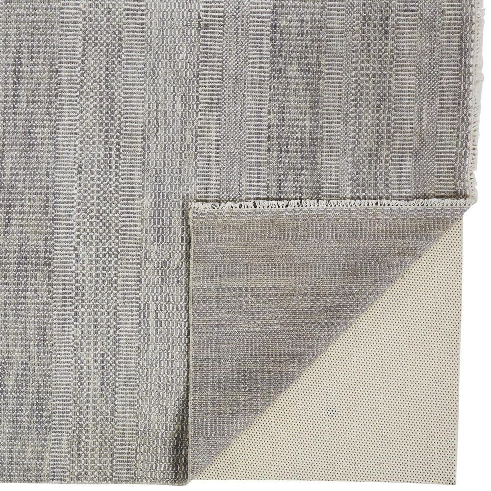 """Feizy Rugs Janson I6063 2'6"""" x 12' Gray and Silver Runner, , large"""