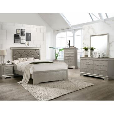 Claremont Amalia 4 Piece Queen Bedroom Set in Champagne, , large