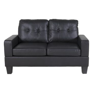 Titanic Furniture Stationary Loveseat in Black, , large