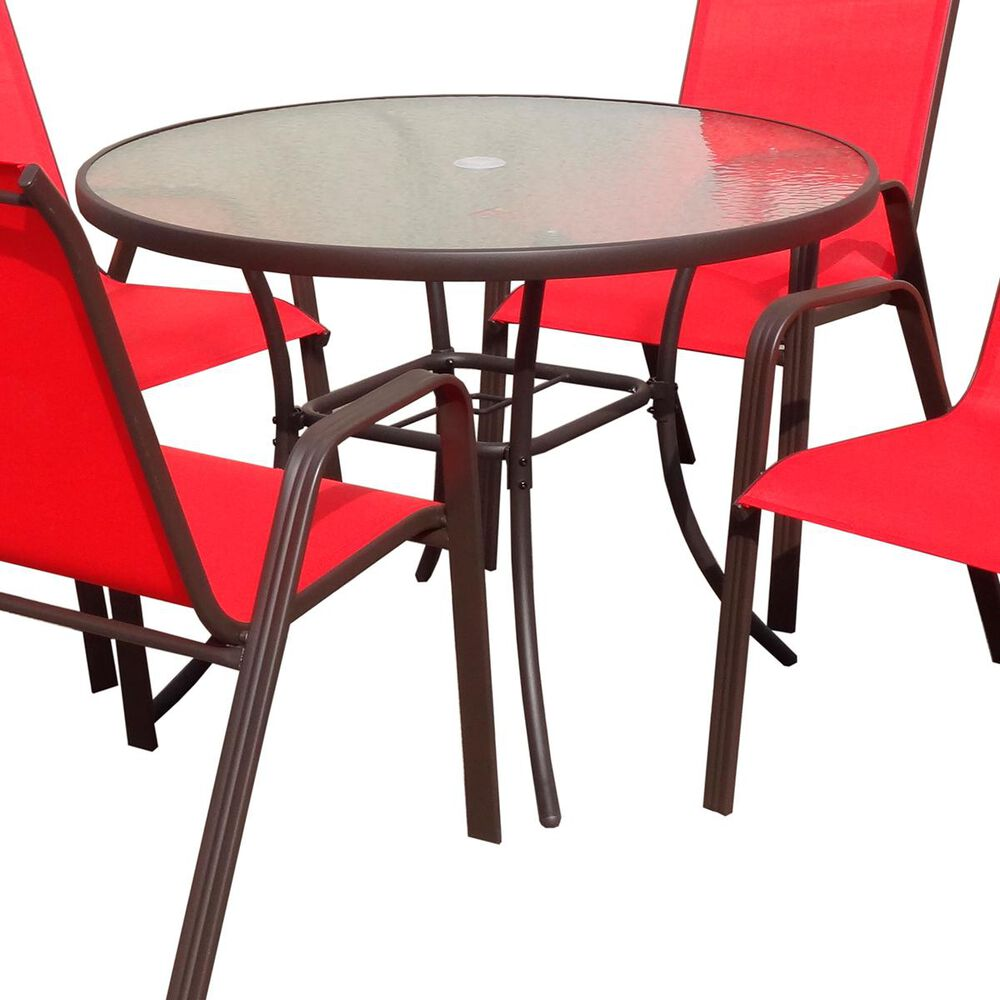 """Loni Birch 40""""  Round Glass Top Table, , large"""