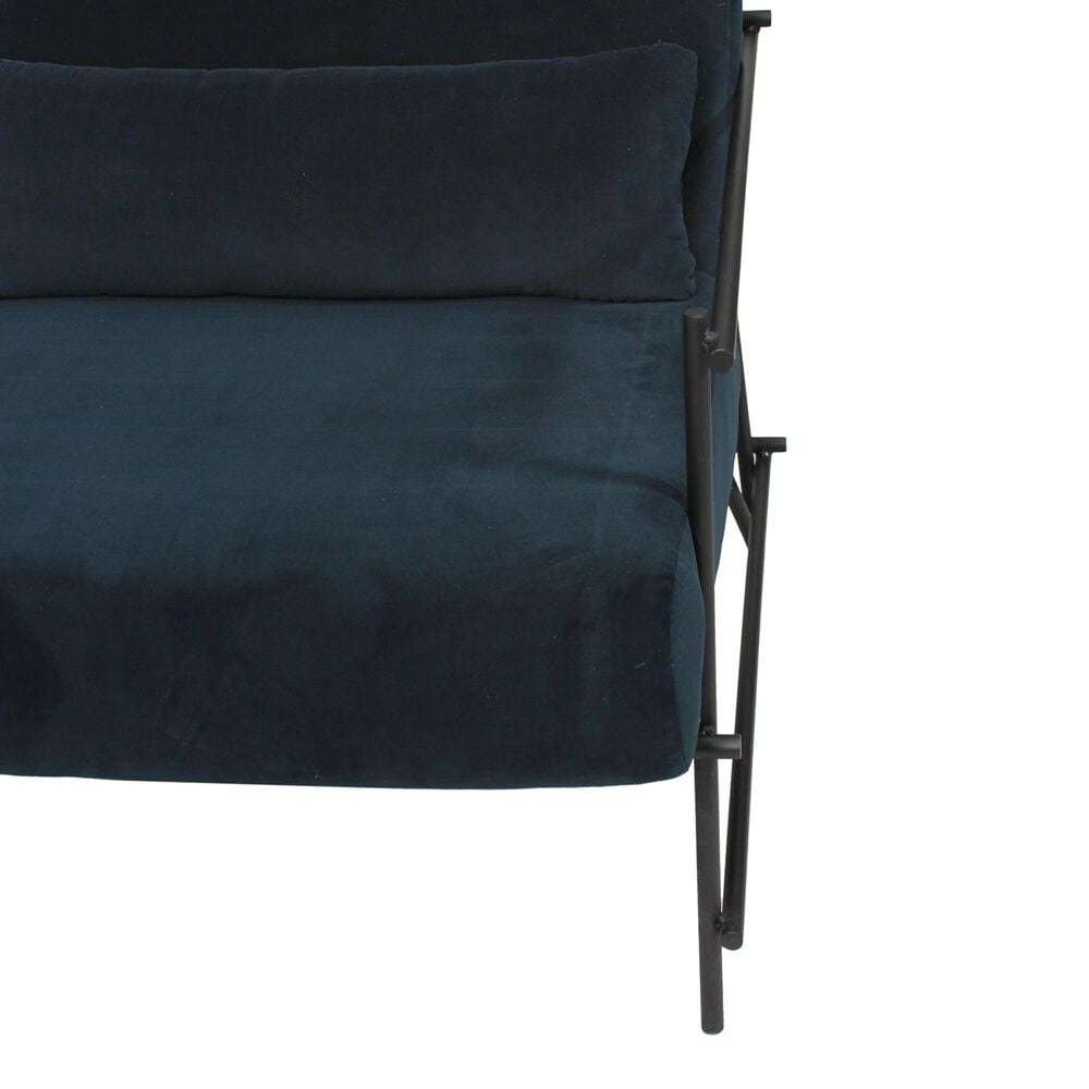 Moe's Home Collection Collins Arm Chair in Blue, , large