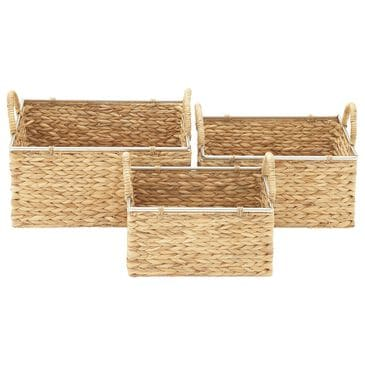 Maple and Jade Assorted Baskets in Tan (Set of 3), , large