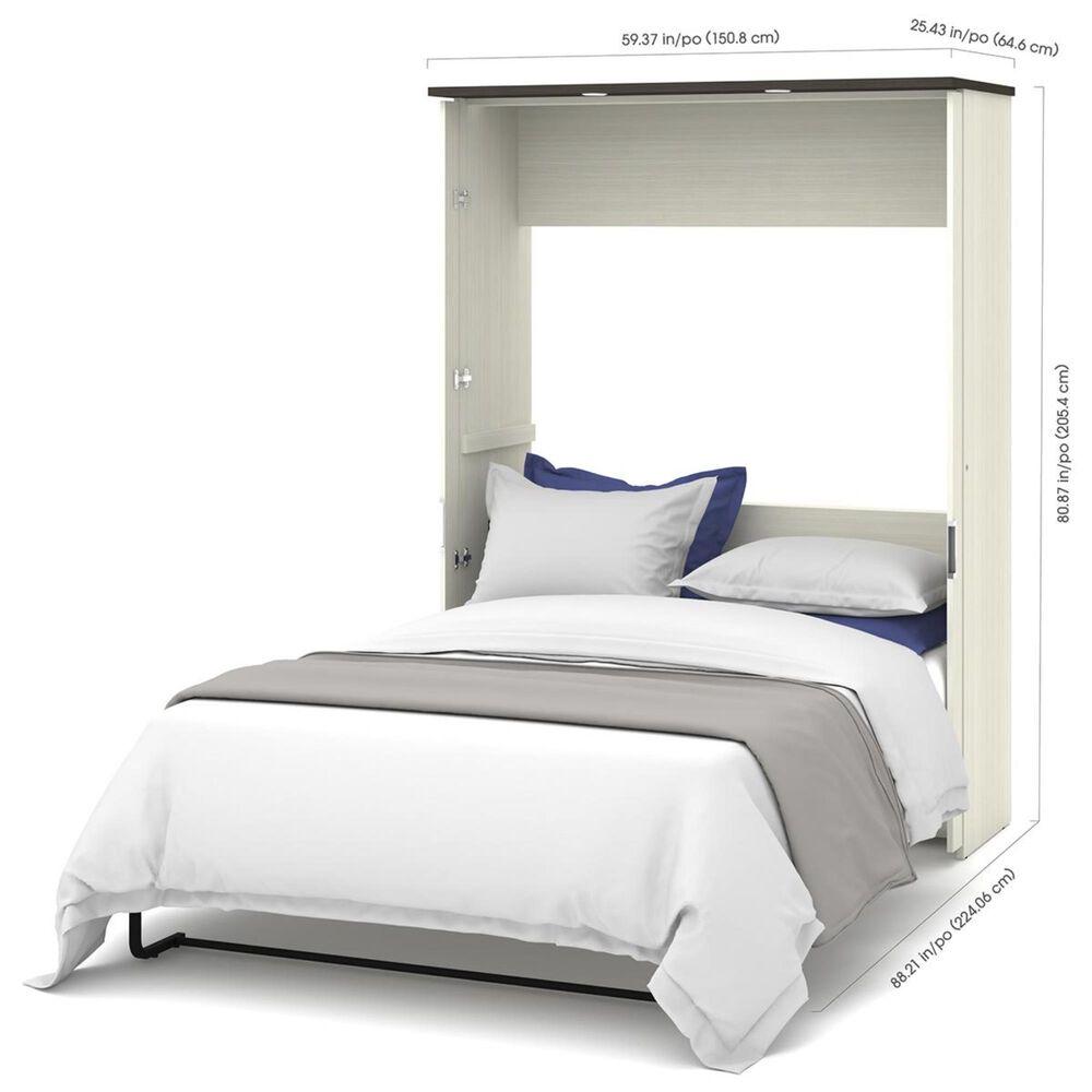 Bestar Lumina Full Wall Bed in White Chocolate & Dark Chocolate, , large