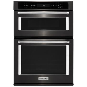 """KitchenAid 27"""" Combination Wall Oven with Even-Heat True Convection in Black Stainless, , large"""