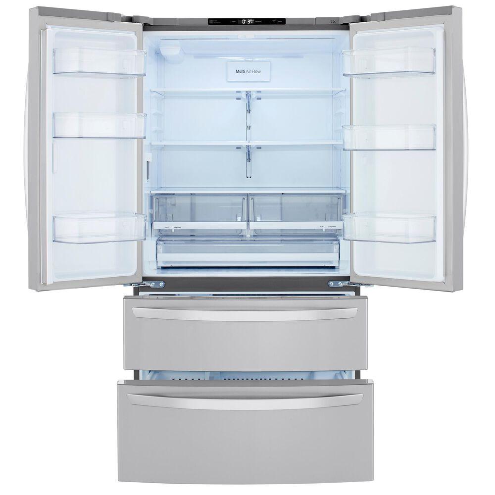 LG 27 Cu. Ft. 4-Door Non-Dispenser French Door Refrigerator in Stainless Steel , , large