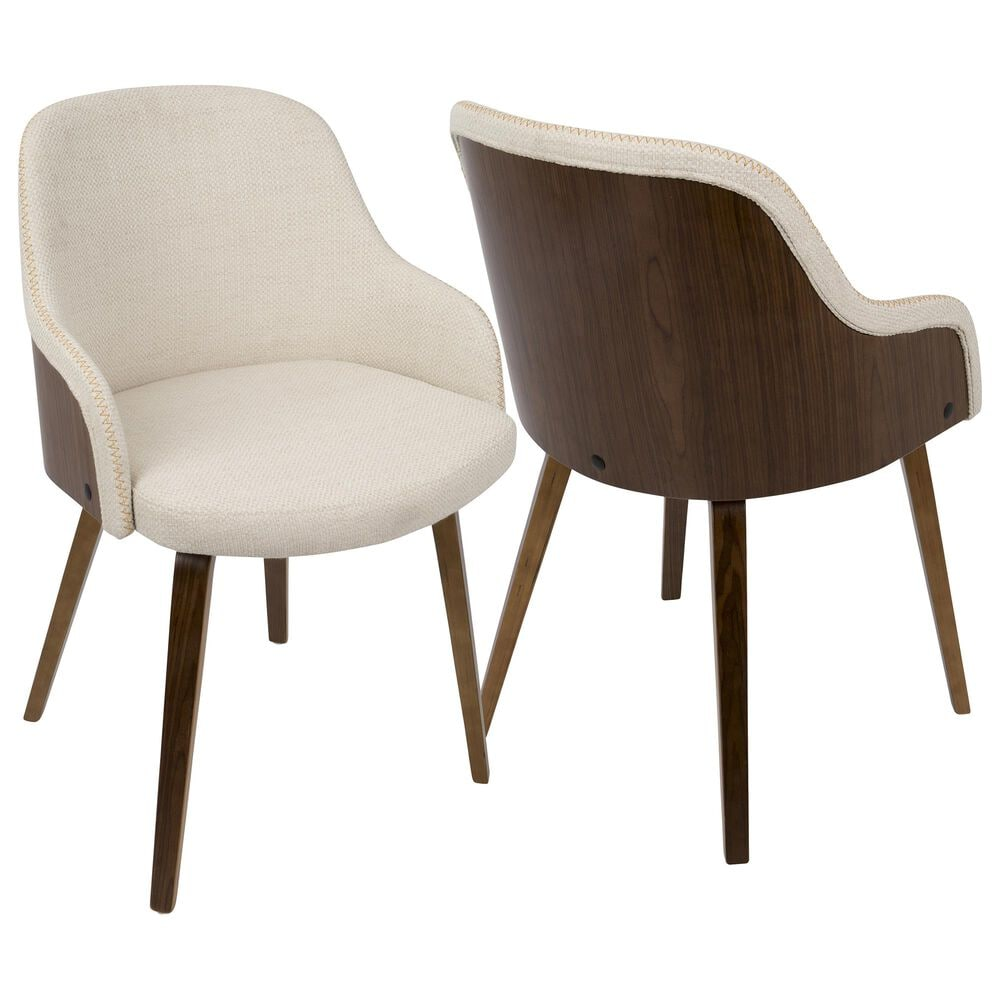 Lumisource Bacci Dining Chair in Cream/Walnut, , large