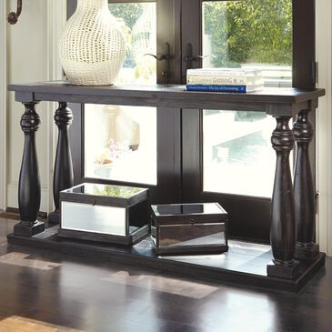 Signature Design by Ashley Mallacar Sofa Table in Black, , large