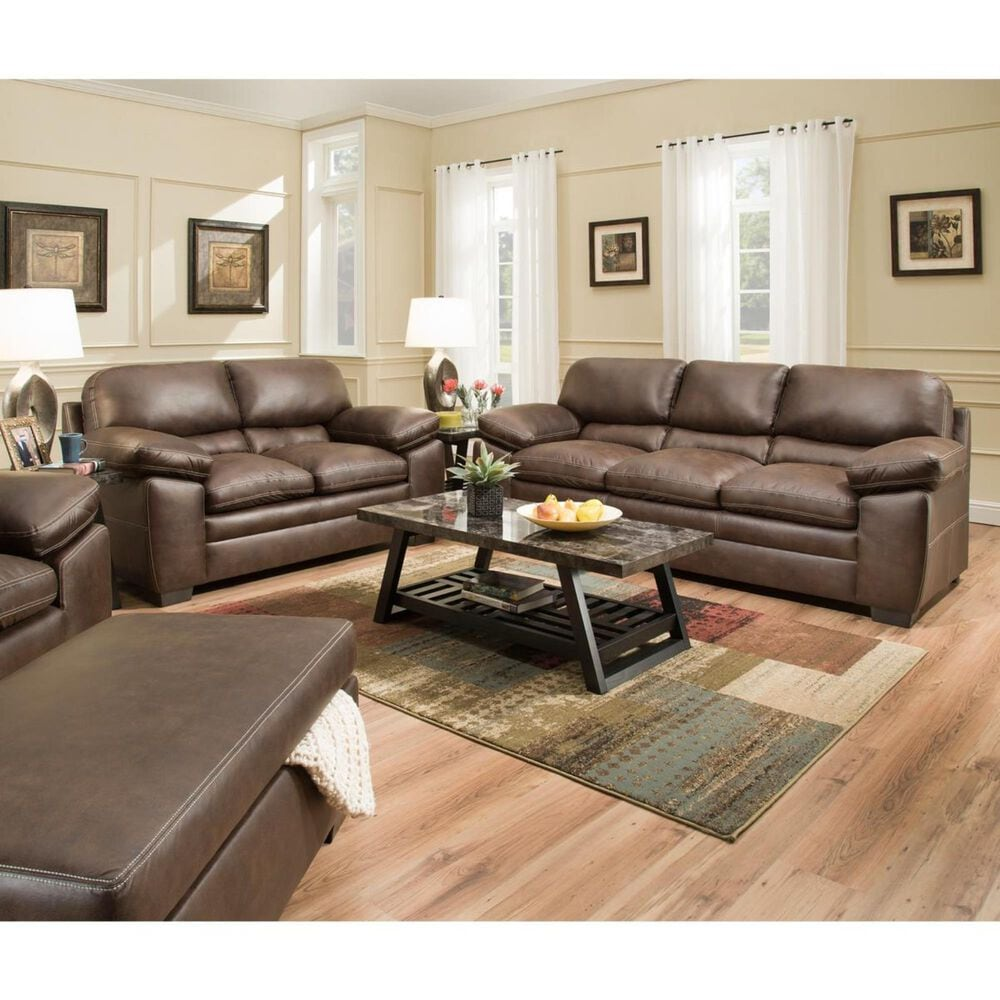 Simmons Upholstery Shiloh Loveseat in Sable, , large