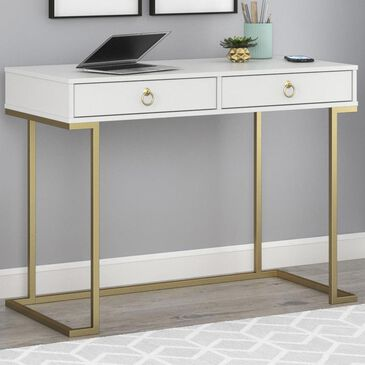 DHP Hailey Writing Desk in White, , large