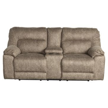 Southern Motion Top Gun Reclining Loveseat with Console in Granite, , large
