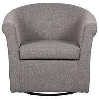 Overman International Corp Swivel Chair in Stallion Gray