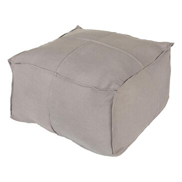 Surya Inc Solid Linen Cube Pouf in Slate, , large